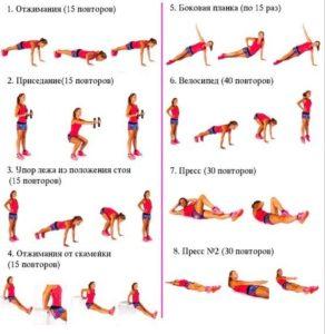 Комплекс упражнений для похудения лучшие советы